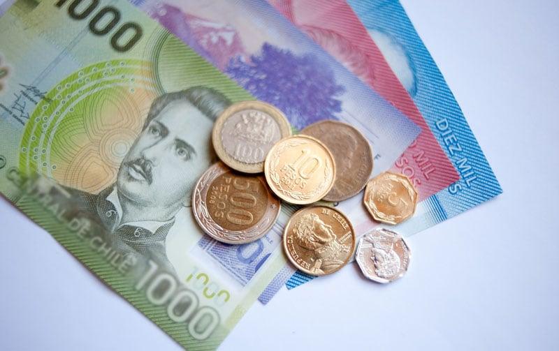 Pesos e moeda do Chile