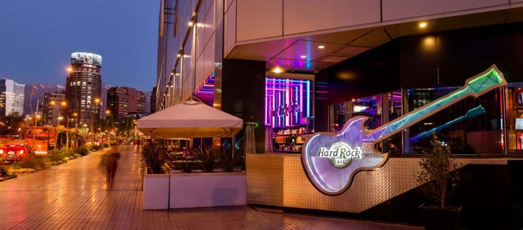 Bar Hard Rock Café em Santiago do Chile