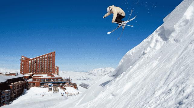 Pistas e aprender a esquiar no Valle Nevado