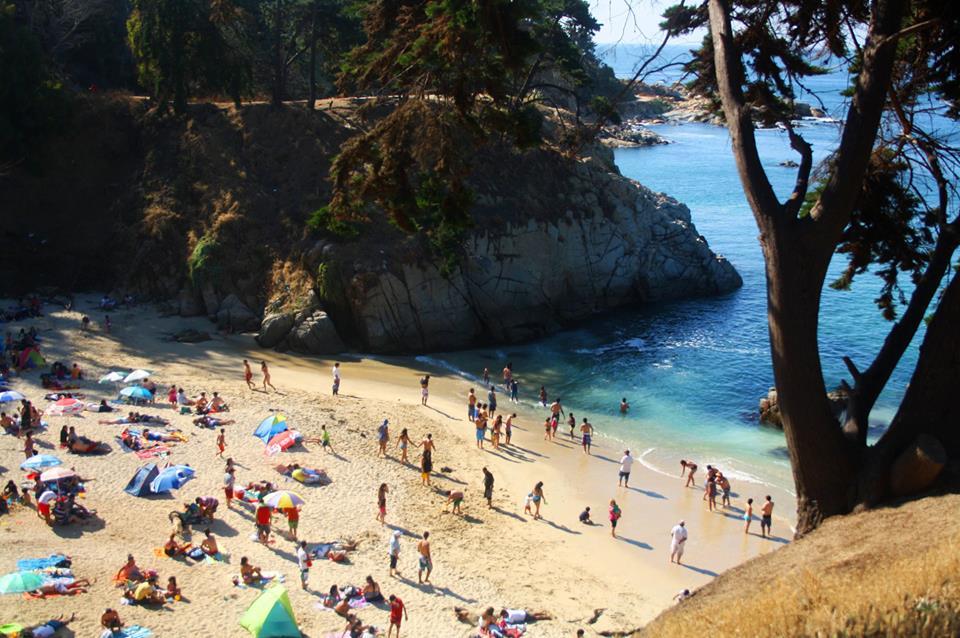 Praia Los Enamorados no Chile