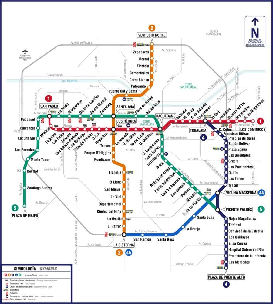 Como ir de trem ou metrô do Aeroporto Internacional até o centro de Santiago do Chile