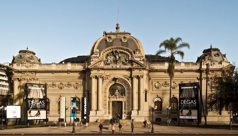 Museu Nacional Belas Artes em Santiago do Chile