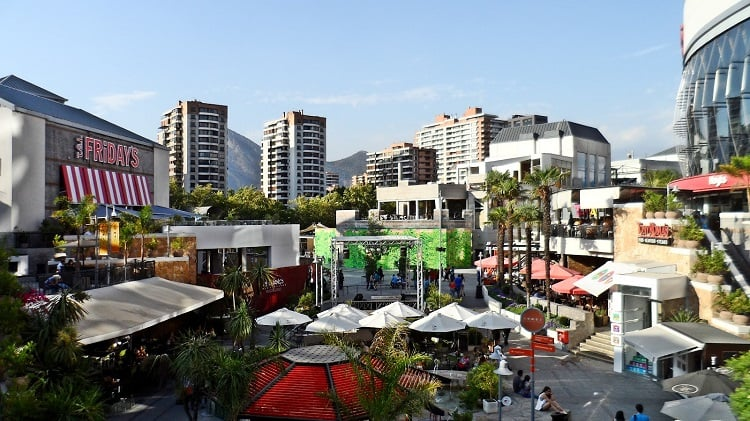 Shoppings em Santiago do Chile