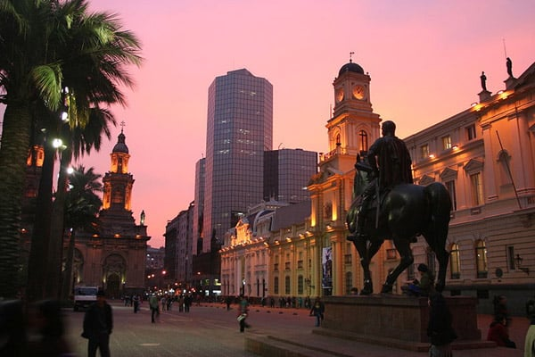 Plaza de Armas em Santiago do Chile