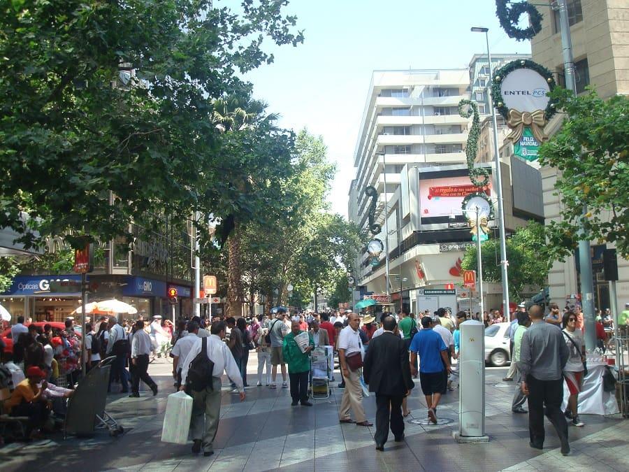 Como andar a pé em Santiago do Chile