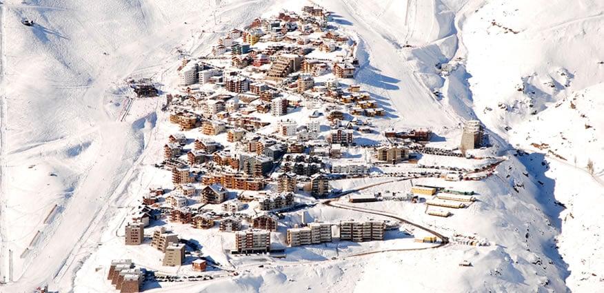 Esquiar no La Parva em Santiago do Chile