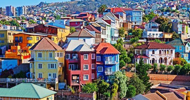 Pontos turísticos em Valparaíso