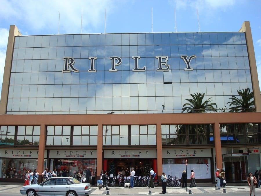 Compras na loja Ripley em Viña del Mar