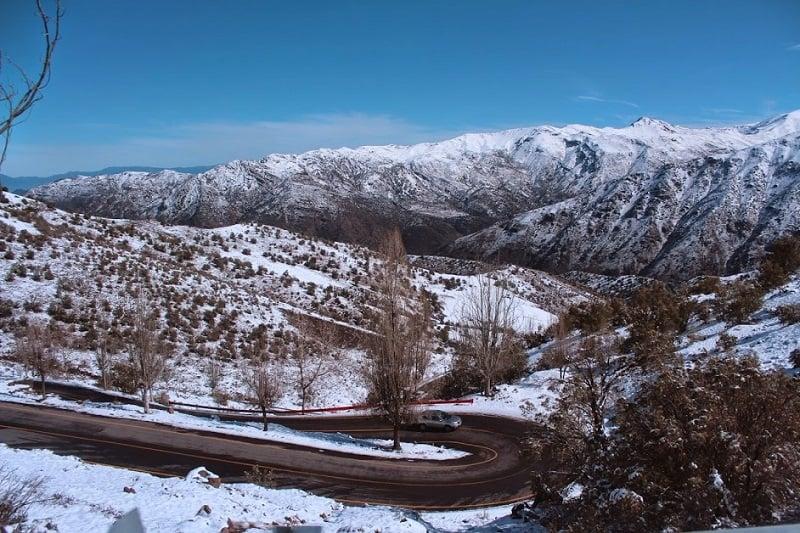 Como chegar na estação de esqui Farellones?