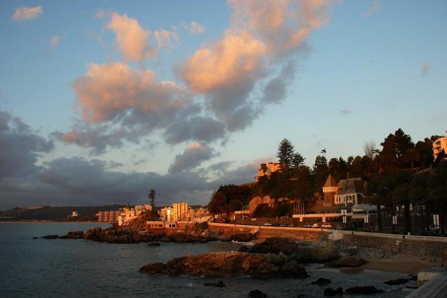 Diferença de fuso horário em Vina del Mar X Brasil