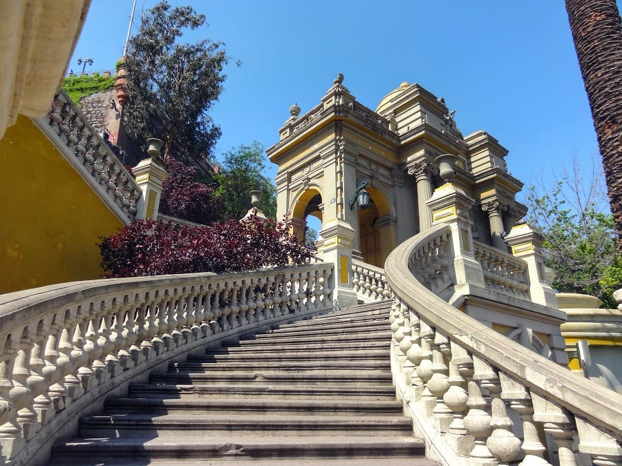 Visita ao Cerro Santa Lucía em Santiago do Chile