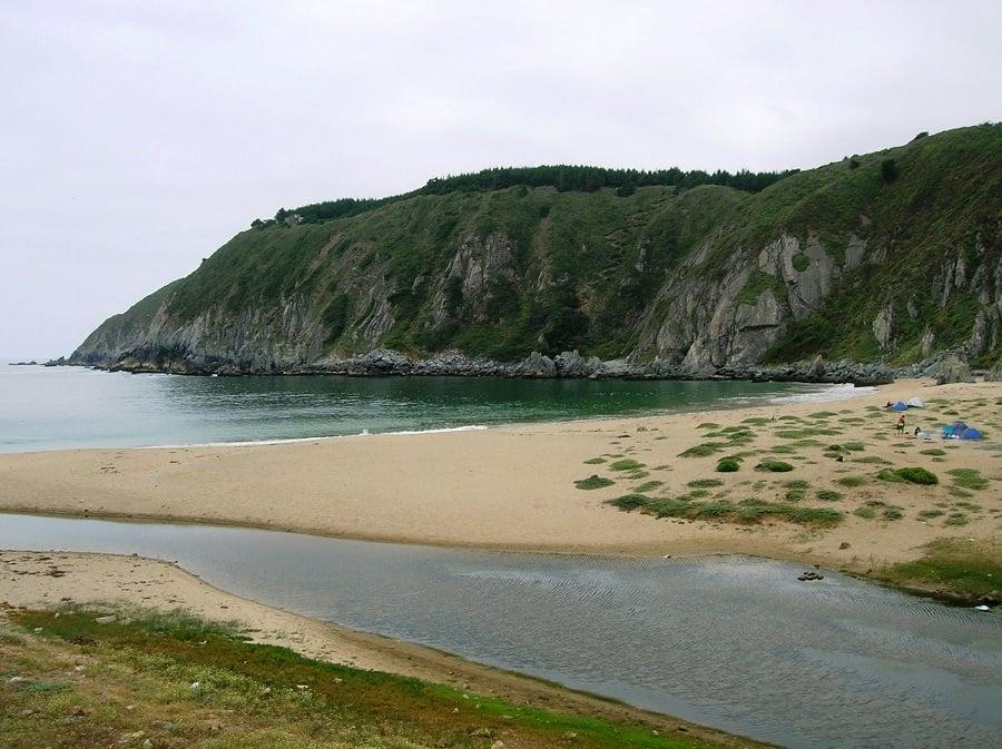 Praia Las Docas em Valparaíso