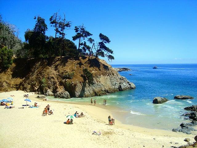Praia Los Enamorados em Viña del Mar