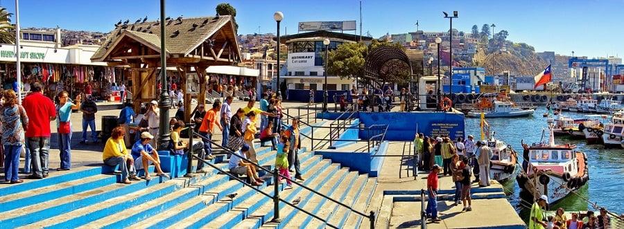 Visitar o Muelle Prat com crianças em Valparaíso