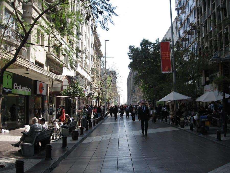 Paseo Ahumada em Santiago do Chile