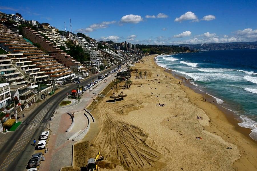 Praia Reñaca em Viña del Mar