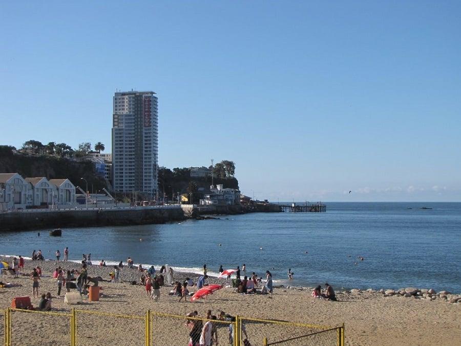 Praia San Mateo em Valparaíso