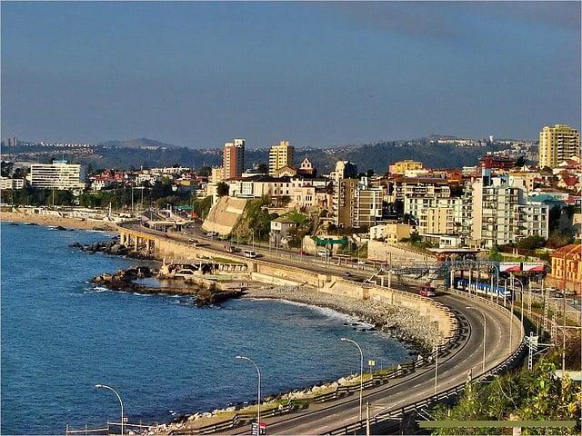 Como ir de Valparaíso à Viña del Mar