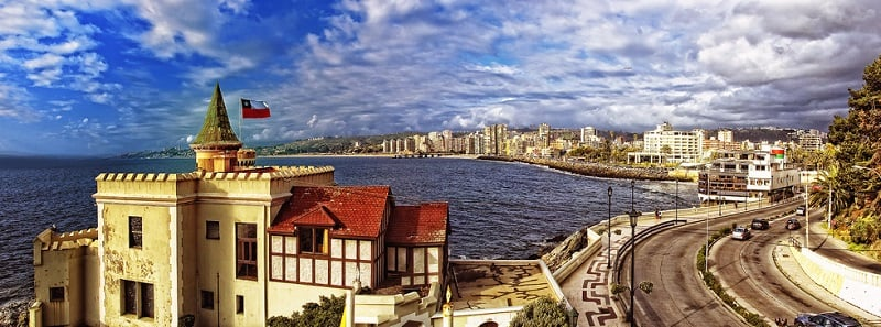 O que ver na viagem de carro de Viña del Mar a Valparaíso