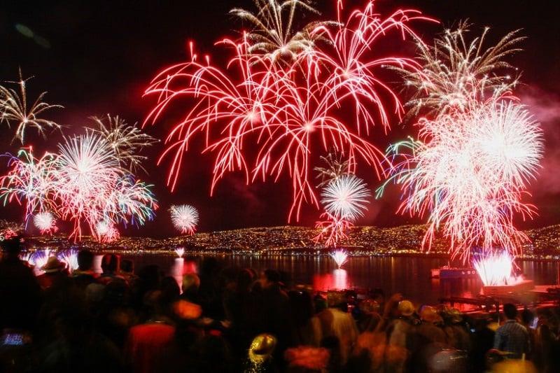 Valparaíso e Viña del Mar no Ano Novo