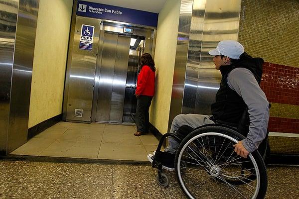 Transporte público para deficientes físicos em Santiago do Chile