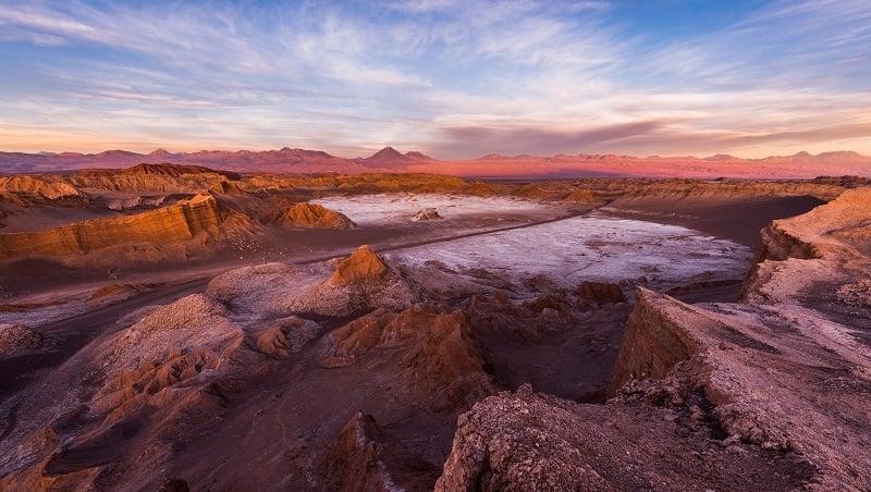 Pôr do sol no Valle de la Luna, San Pedro de Atacama
