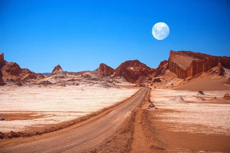 Valle de la Luna no verão