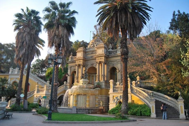 Visitar o Cerro Santa Lucía em Santiago no mês de outubro