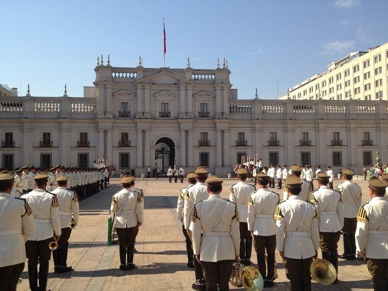 Conhecer o Palácio La Moneda em Santiago no mês de agosto