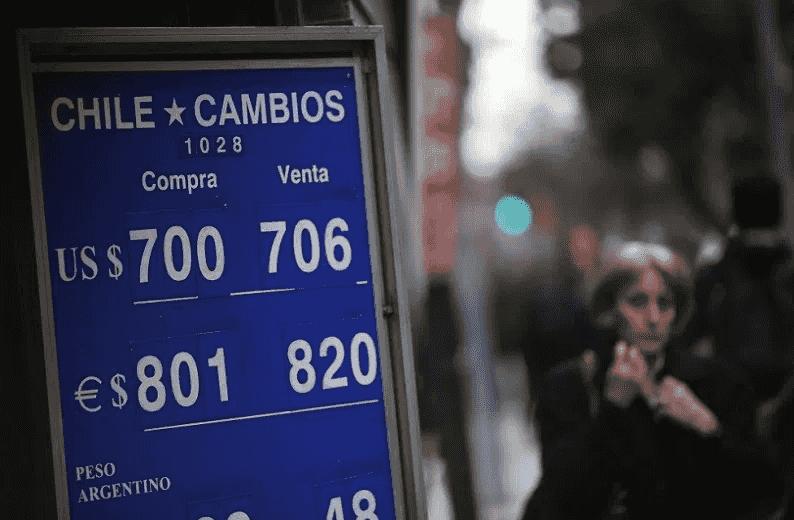Trocar dinheiro no centro de Santiago