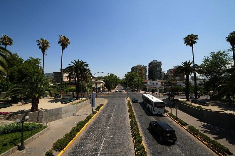 Bairro de Providencia em Santiago do Chile