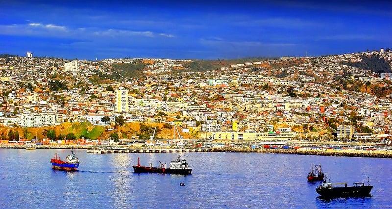 Remessas internacionais para Valparaíso