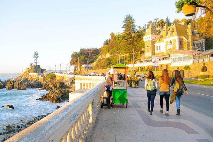 Ruas para deficientes físicos em Viña del Mar