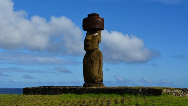 Moai do Complexo Tahai na Ilha de Páscoa