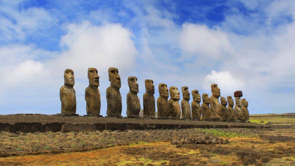Ahu Tongariki na Ilha de Páscoa, Chile