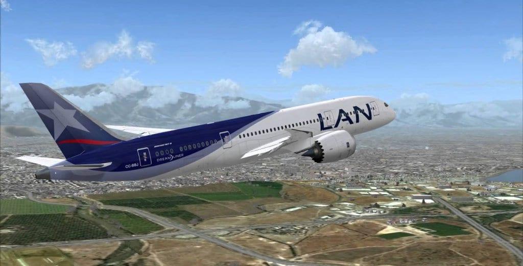 Avião sobrevoando a Ilha de Páscoa