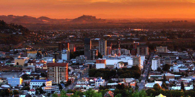 Cidade de Temuco, no Chile