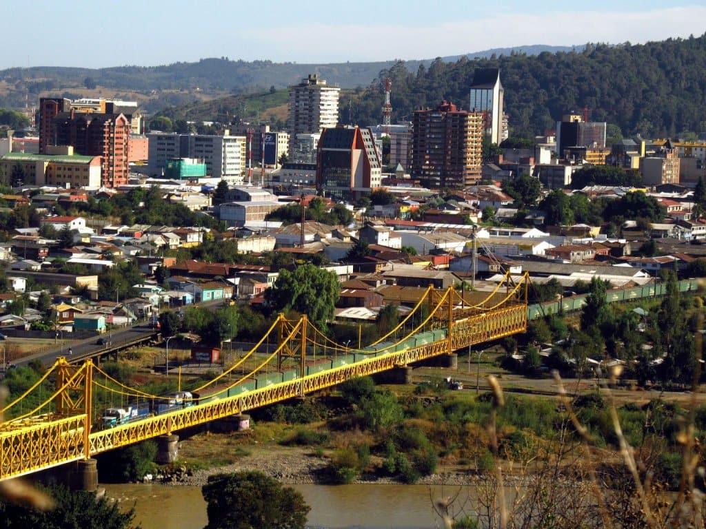 Foto da cidade de Temuco, no Chile