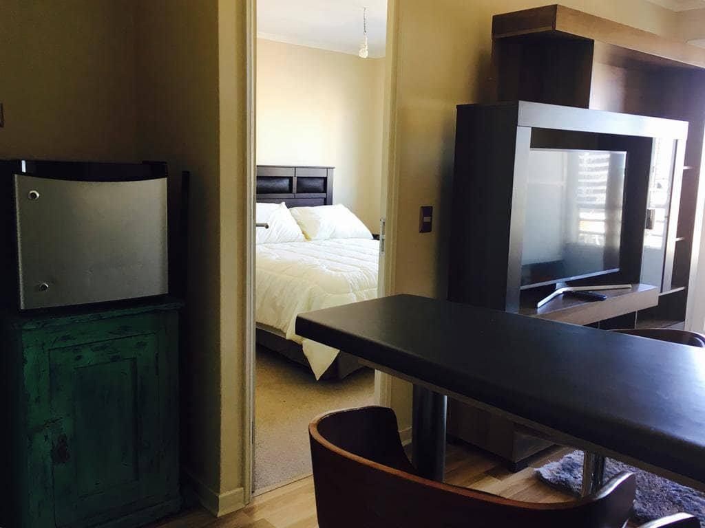 Sala e quarto do Apartamento Centro Temuco Lagos 669 em Temuco