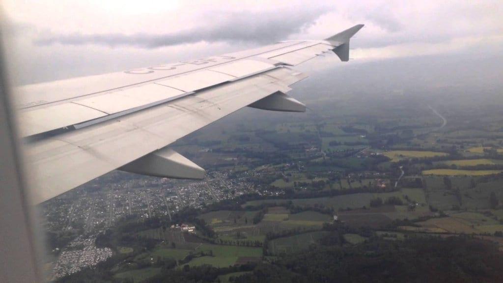 Aterrissagem em Temuco