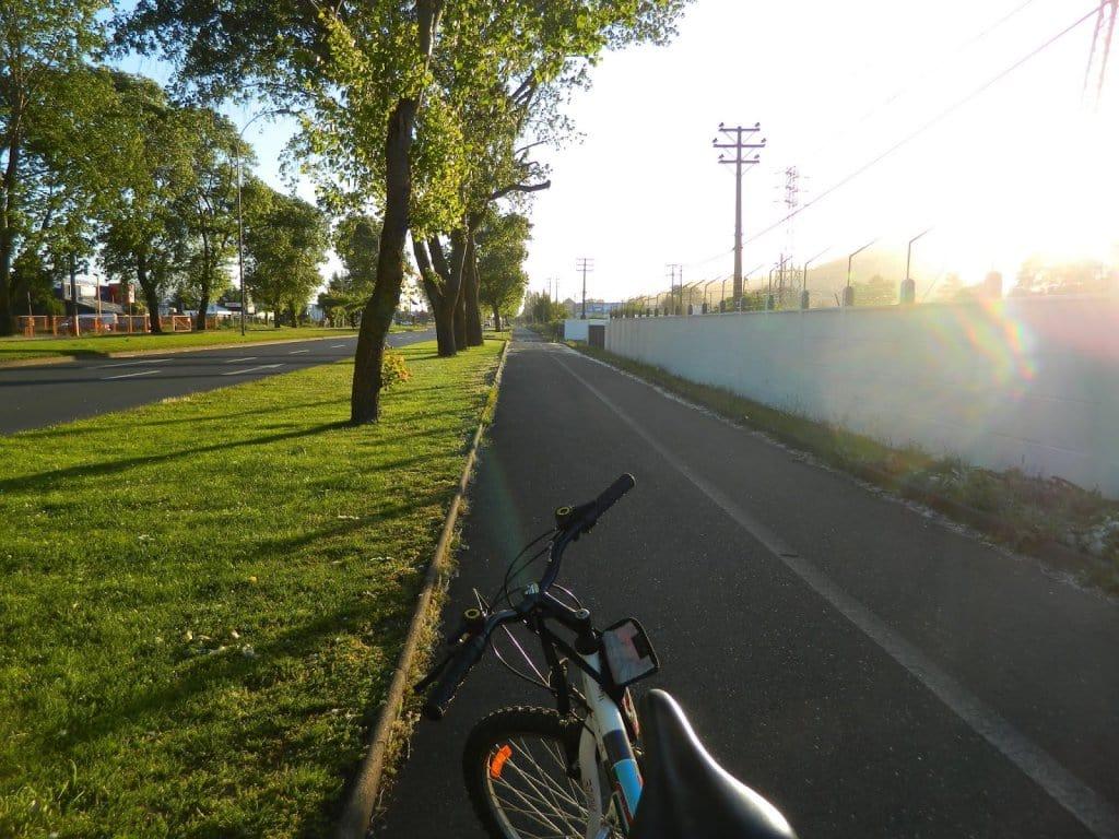 Andando de bicicleta em Temuco