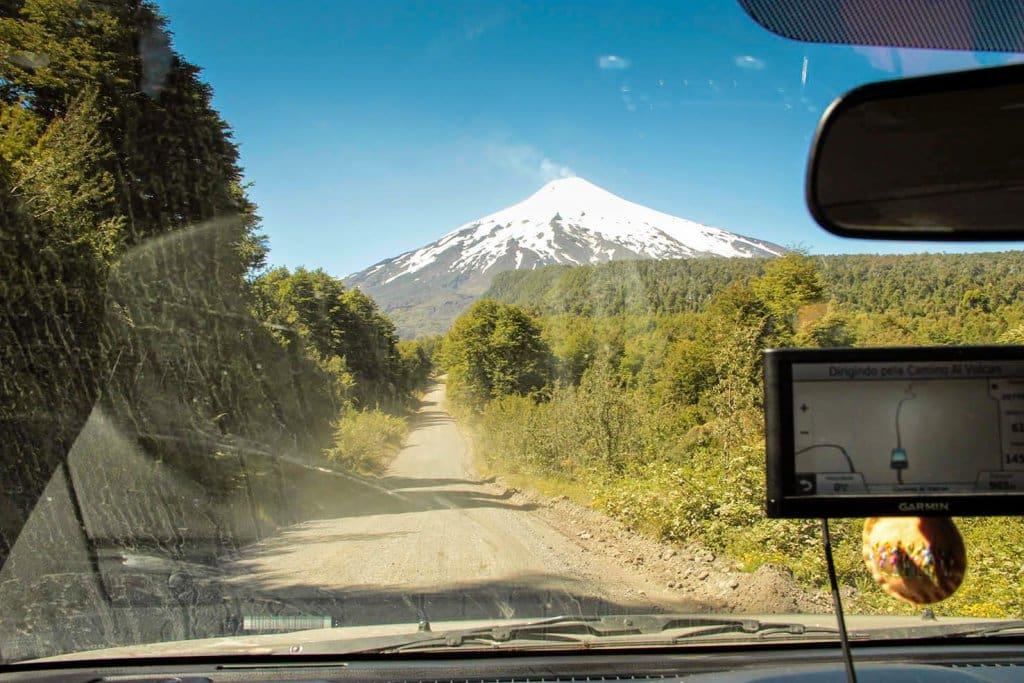 Dica do GPS no aluguel do carro em Pucón