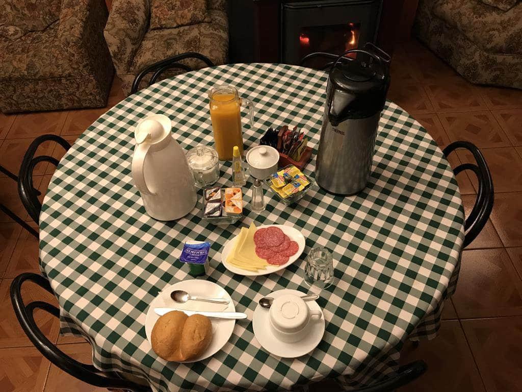 Café da manhã do Hostal Graciela em Pucón
