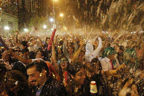 Vestimentas para o Ano Novo em Santiago do Chile
