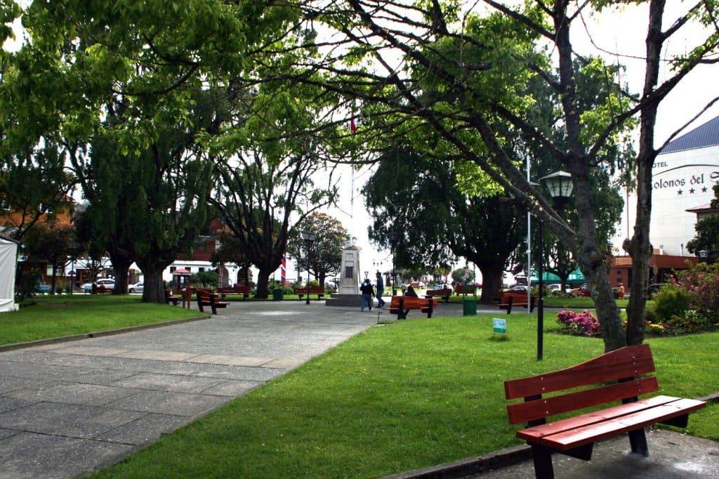 Plaza de Armas em Puerto Varas, no Chile