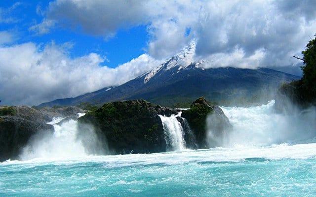 Saltos de Petrohué em Puerto Varas, no Chile