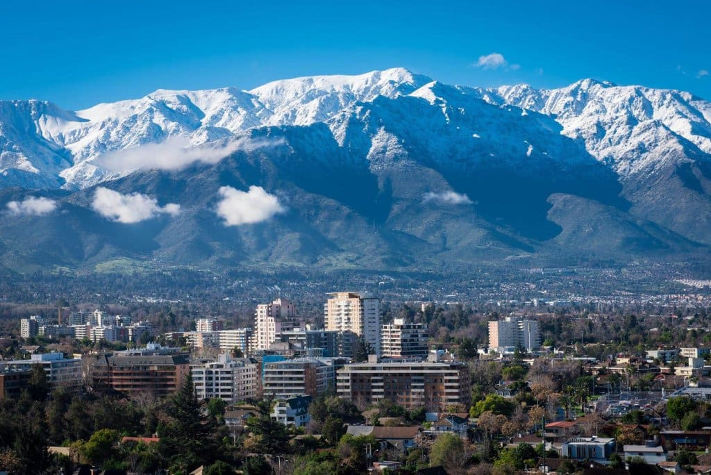 Vista da cidade de Santiago do Chile