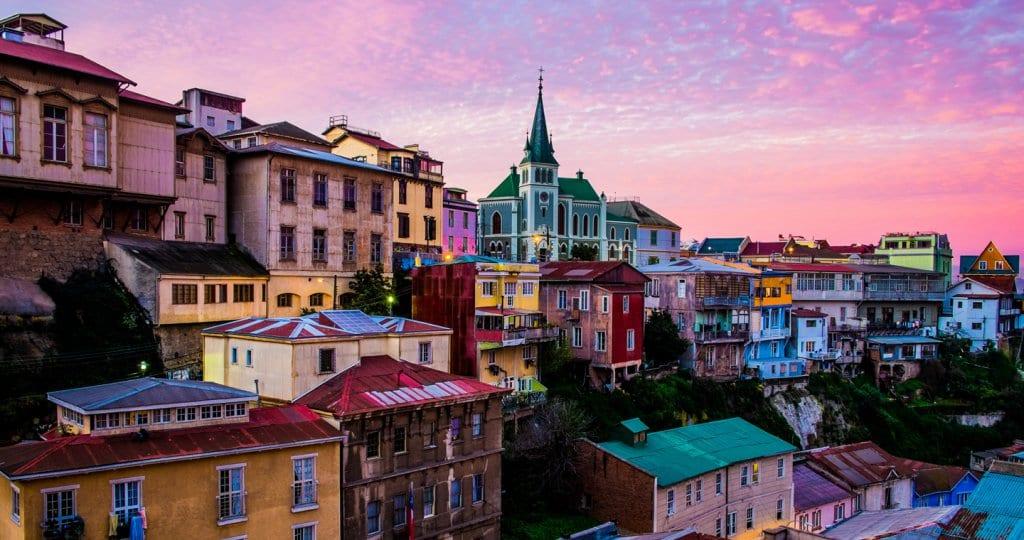 Cidade de Valparaíso no Chile
