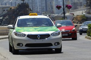 Como andar em Valparaíso: táxi
