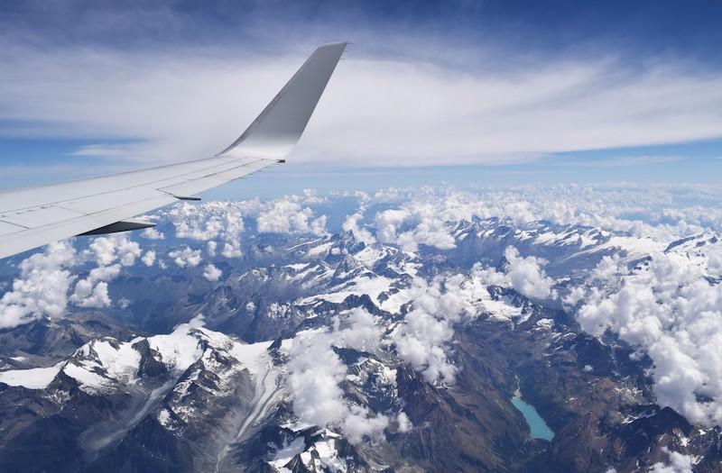 Passagens aéreas - paisagem do avião